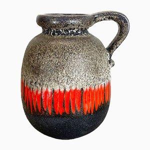 Large Multicolored Fat Lava Ceramic 484 Floor Vase from Scheurich, 1970s