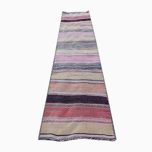 Vintage Turkish Striped Kilim Runner Rug