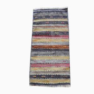Vintage Anatolian Striped Kilim Runner Rug