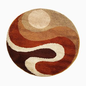 Small Psychedelic High Pile Rug from Prinstapijt Desso, Netherlands, 1970s