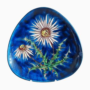 Blue Wall Plate from Hindelanger, Germany 1960s