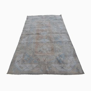 Distressed Hand Knotted Oushak Rug