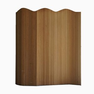 French Modern Room Divider in Patinated Oak, 1950s