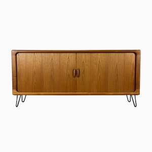 Danish Teak Sideboard with Tambour Doors from Dyrlund, 1970s
