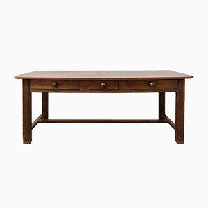Französischer Tisch aus Eiche & Pappel, spätes 19. Jh