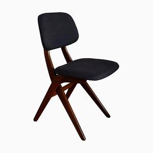 Vintage Teak Scissor Chair by Louis Van Teeffelen for Webe, 1960s