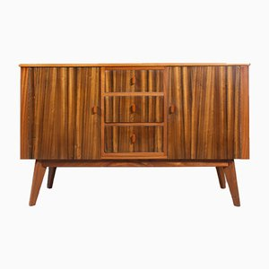 Vintage English Walnut Highboard from Morris of Glasgow, 1950s