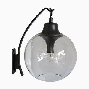 Große italienische Wandlampe aus Glas von Luigi Hunting Dominioni für Azucena, 1960er