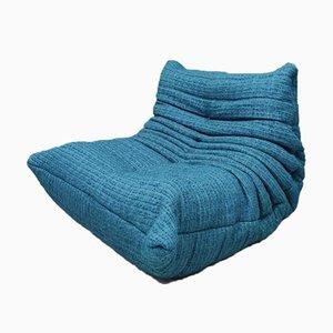 Blaues Togo Einsitzer Sofa von Ligne Roset