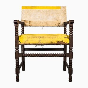Bobbin Side Chair in Oak, 19th-Century, Germany