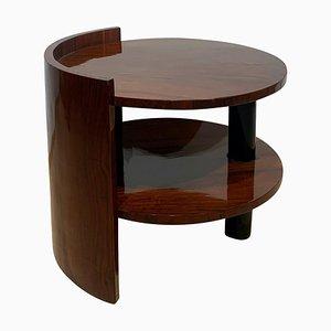 Art Deco Sofa or Side Table with Walnut Veneer, France, 1930s