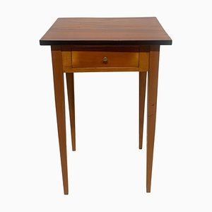 Biedermeier Side Table with Drawer in Cherry Wood, South Germany, 1830s