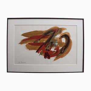 Composition in Orange and Red von James Pichette, 1970er
