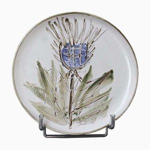 French Mid-Century Decorative Plate by Albert Thiry, 1960s