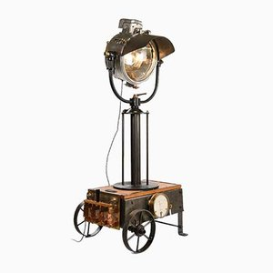 Boat Projector and Electrical Box Transformed into Industrial Luminaire
