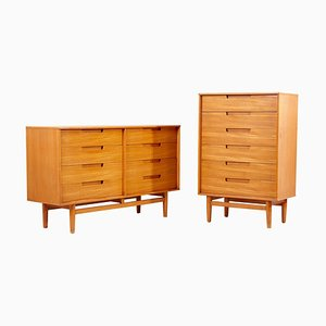 Dressers by Milo Baughman for Drexel, 1950s, Set of 2