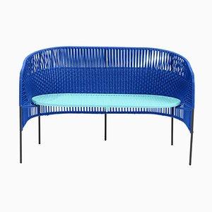 Blue Caribe 2-Seater Bench by Sebastian Herkner