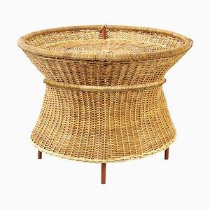 Caribe Natural Basket Table by Sebastian Herkner