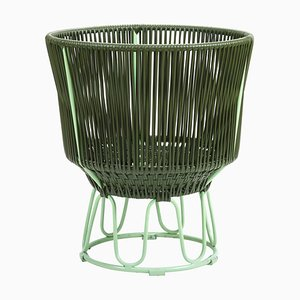 Maceta Circo 3 en verde oliva de Sebastian Herkner