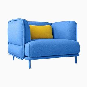 Hug Blue Armchair by Cristian Reyes