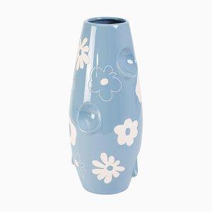 Oko Pop Ceramic Vase, Denim Daisy by Malwina Konopacka