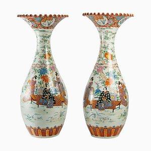 Large Japanese Vases, Set of 2