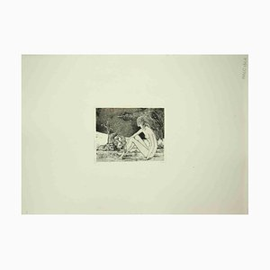 Leo Guida, Reclined Sybil, Original Etching, 1970s