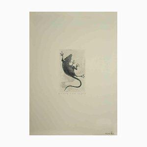 Leo Guida, Flight of the Rat, Original Etching, 1973