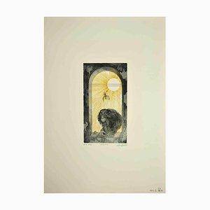Leo Guida, Monkey, Original Etching, 1972