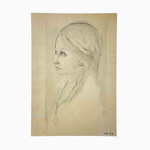 Leo Guida, Portrait, Dessin Original, 1970s