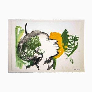 Leo Guida, Porträt, Originalzeichnung, 1970er