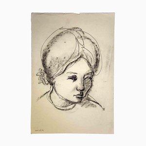 Leo Guida, Portrait, Original Drawing, 1970s