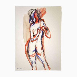 Leo Guida, Nude, Original Drawing, 1970s