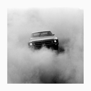 Buick in the Dust, Hemsby, Black & White Square Car Photographie, 2000-2021