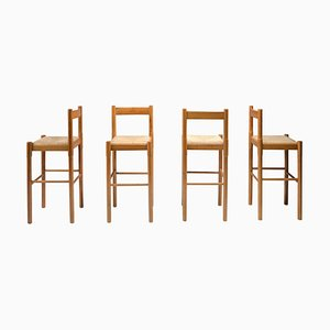 Carimate Bar Stools by Vico Magistretti for Artemide, Set of 4