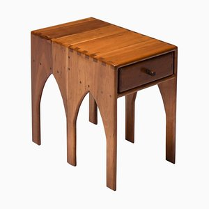 American Craft Side Table with Drawer on Each Side
