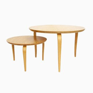 Annika Coffee Tables by Bruno Mathsson for Dux, Sweden, 1970s or, 1980s, Set of 2