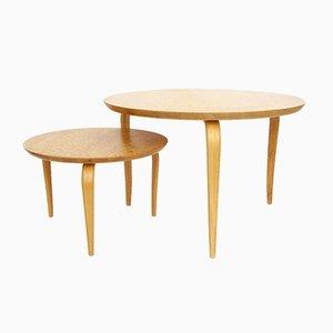 Tables Basses Annika par Bruno Mathsson pour Dux, Suède, 1970s ou, 1980s, Set de 2