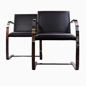 Brno Flat Bar Chairs by Mies Van Der Rohe for Knoll Inc. / Knoll International, Set of 2