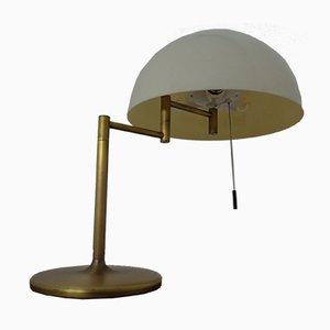 Verstellbare Schreibtischlampe aus Messing & Kunststoff von Staff, 1960er