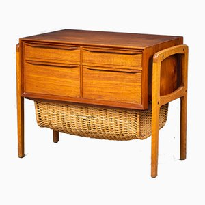Sewing Table with 4 Drawers, Denmark, 1960s
