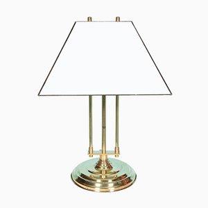 Vintage Regency Style Glass & Brass Desk Lamp, 1970s