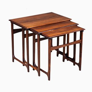 Nesting Tables in Rosewood from BC Møbler, Denmark, 1960s, Set of 3