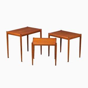 Nesting Tables in Teak, Denmark, 1960s, Set of 3
