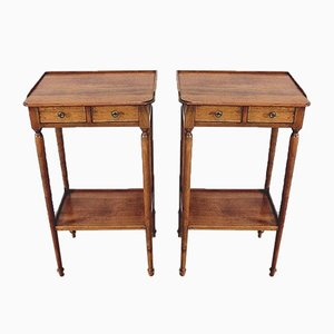 Small Tables in Solid Cherry, 20th Century, Set of 2
