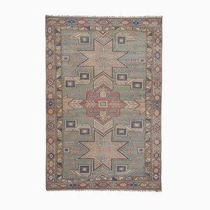 Handgewebter anatolischer Vintage Oushak Kars Area Teppich