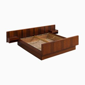 Danish Mid-Century Modern Rosewood King-Size Double Bed Frame, 1960s