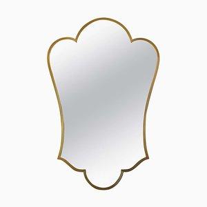 Mid-Century Brass Shield Mirror