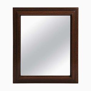 Large Palmwood Mirror, 1940s