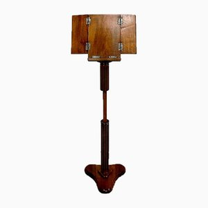 Small Child's Reading Lectern in Solid Walnut, Late 19th Century